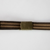 Brown Stripe Brass Belt
