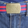 Red Blue Stripe Brass Belt
