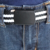Black White Stripe Black Belt
